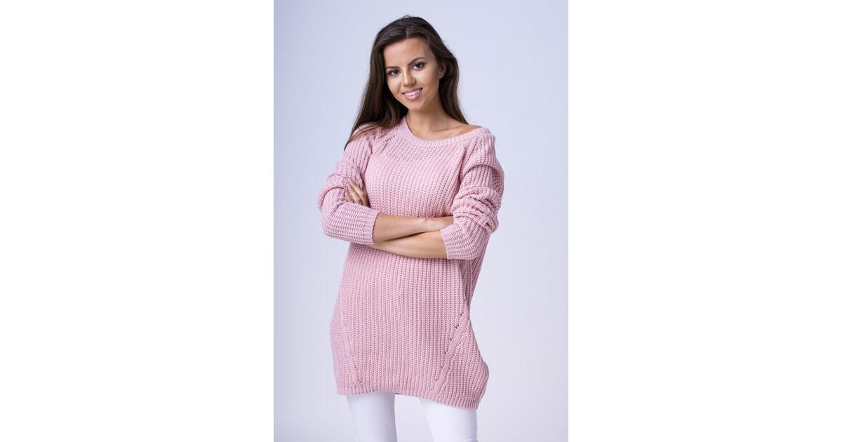 VIPhair.cz - Moderní delší svetřík - pink - Svetry 51dbc39c86