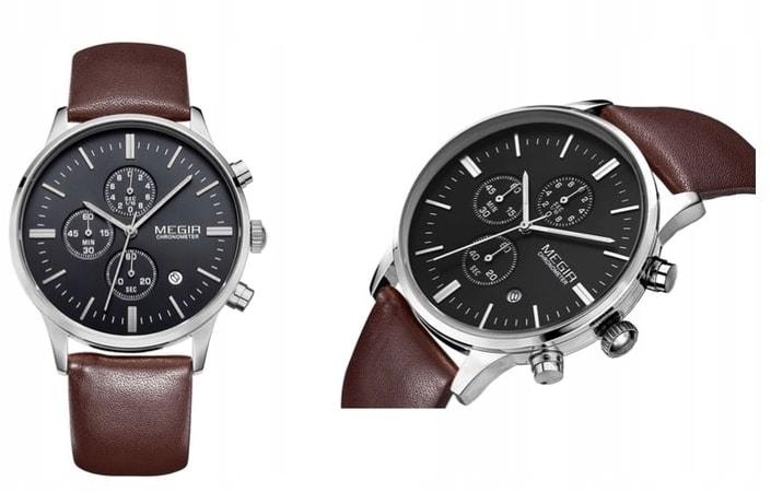 34f972a9384 Nový model stylových pánských hodinek MEGIR Chronograph TLW11 - brown silver