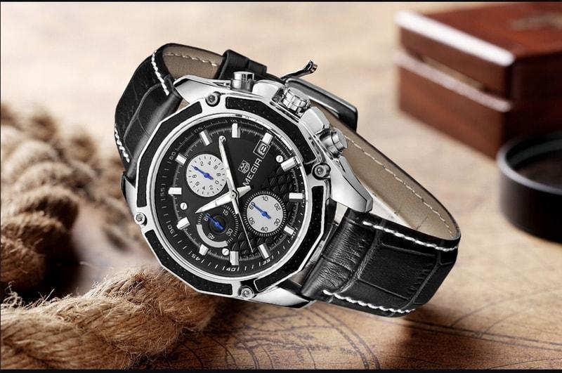 8ab2e676af9 VIPhair.cz - Pánské stylové hodinky MEGIR Classic Chrono - black ...