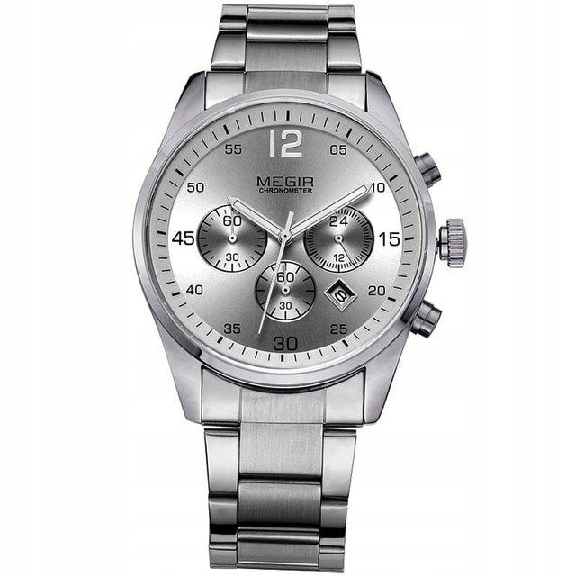 VIPhair.cz - Luxusní pánské hodinky MEGIR 2010G - silver - Hodinky ... 497ede47f6