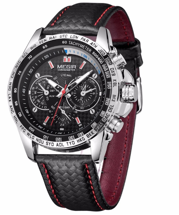 VIPhair.cz - Dokonalé pánské hodinky MEGIR SPORT ML1010 - black ... 3546973369