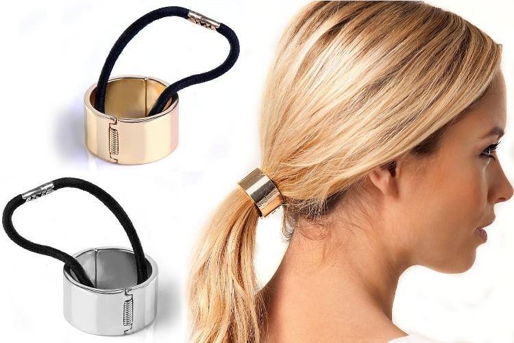 ea0e3c8db98 VIPhair.cz - Kovový obojek - Spona s gumkou do vlasů Hair Cuff X ...