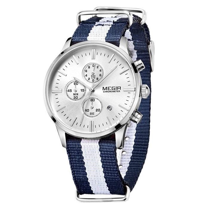 1c3f539c72a Nový model stylových pánských hodinek MEGIR Chronograph TLW11 - blue white