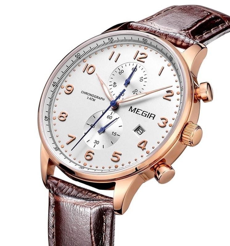 VIPhair.cz - Pánské elegantní hodinky pro každého MEGIR TOKIO - gold ... 96aa8e733b