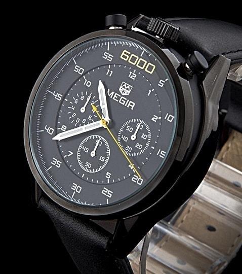 de1865f0675 Pánské hodinky MEGIR 6000 v ležérním stylu pro gantlemany - black