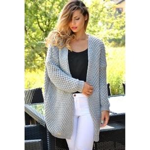 VIPhair.cz - Dámský luxusní kardigan - grey - Svetry 9a1b44d1e0