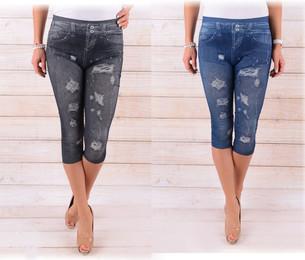 6d7a64e0f30 VIPhair.cz - Dámské 3 4 legíny - imitace jeans - vzor 2 - Legíny ...