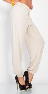 VIPhair.cz - Moderní harémové kalhoty - beige - Legíny 2a76f8cc73